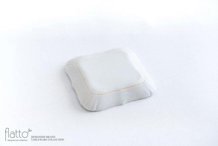 杉原万理江|KATACHI豆皿 シカク(白)-04