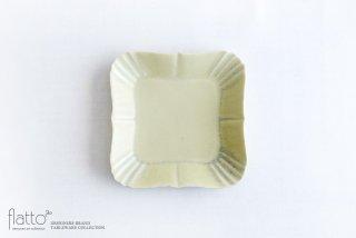 杉原万理江|KATACHI小皿 シカク(黄緑)