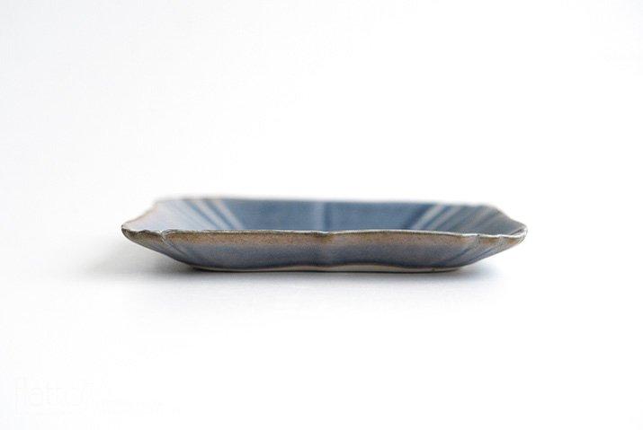 杉原万理江|KATACHI小皿 シカク(青紫)-04