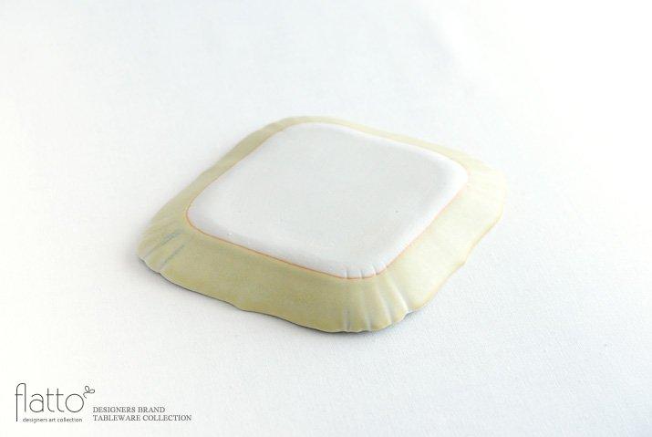 杉原万理江|KATACHI小皿 ヒシ(黄緑)-04