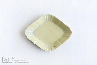 杉原万理江|KATACHI小皿 ヒシ(黄緑)