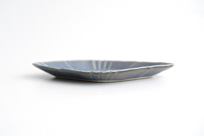 杉原万理江|KATACHI小皿 ヒシ(青紫)-04