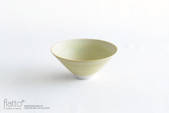 杉原万理江|飯碗(黄緑)