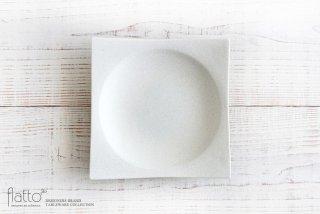 水野幸一|粉引 角皿(大)
