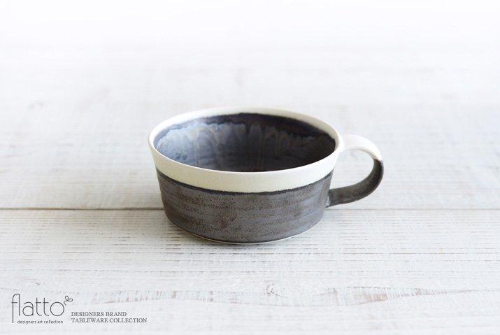 トキノハ|shiro-kuro スープカップ(縁白)