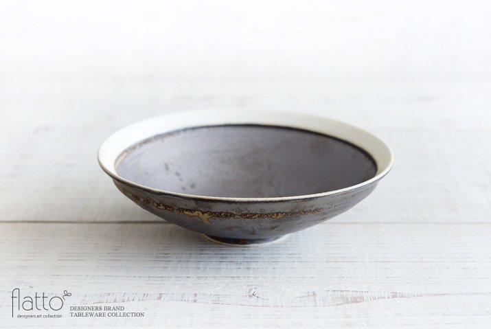 トキノハ|shiro-kuro 6寸鉢(縁白)