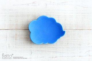 東一仁|ブルー ウンリュウ菓子皿