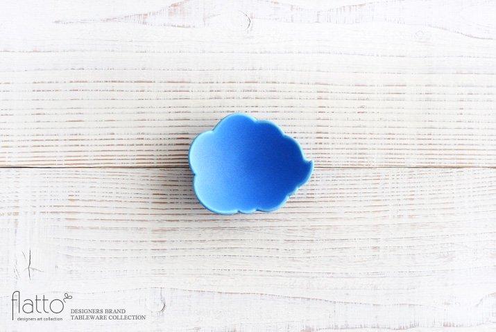 東一仁|ブルー ウンリュウ豆皿