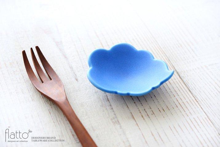 東一仁|ブルー ウンリュウ豆皿-02