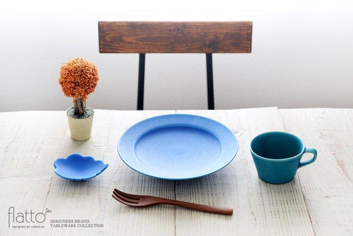 東一仁|ブルー ウンリュウ豆皿-03