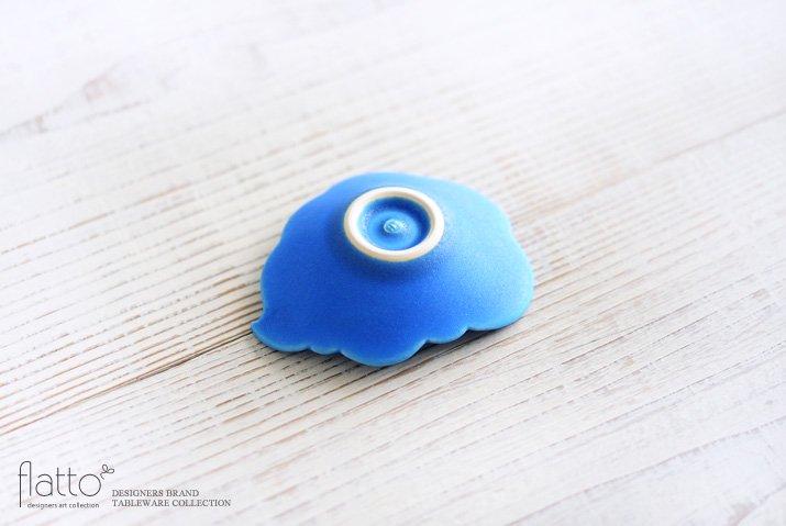 東一仁|ブルー ウンリュウ豆皿-04