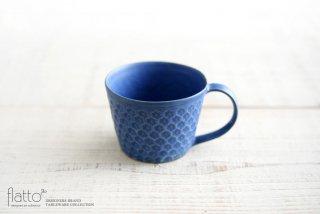武曽健一|印花マグカップ(青)