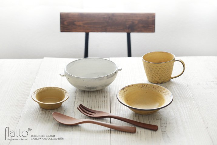 武曽健一|スープ鉢(耳付・白)-03