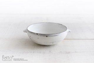 武曽健一|スープ鉢(耳付・白)