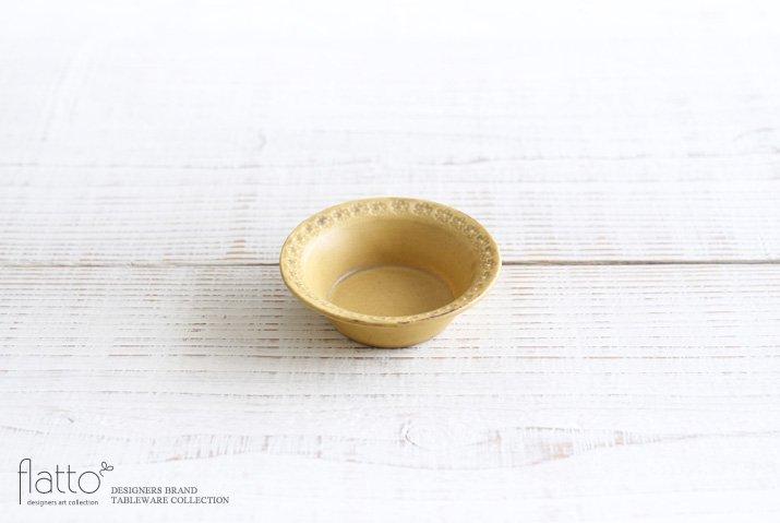 印花豆鉢(黄) 作家「武曽健一」