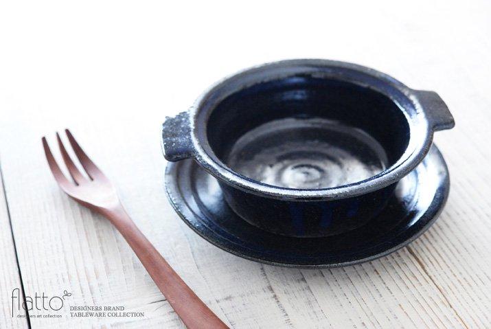 瑠璃釉耐熱 耳付グラタン皿 作家「古谷浩一」-02