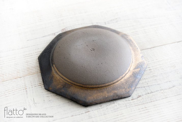 水野幸一|銅彩釉 八角皿(大)-04