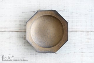 銅彩釉 八角皿(大) 作家「水野幸一」