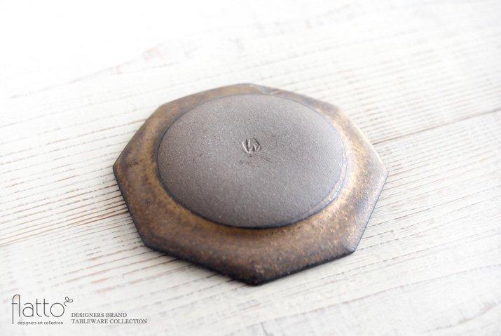 水野幸一|銅彩釉 八角皿(小)-04