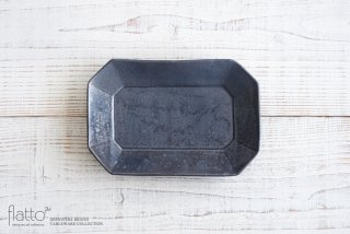 加藤祥孝|鉄釉 7.5寸八角長皿