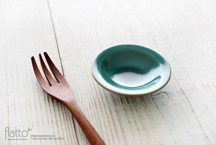 トルコブルー 3寸皿 作家「市野耕」-02