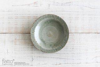 灰釉 5寸鎬皿 和食器作家「市野耕」