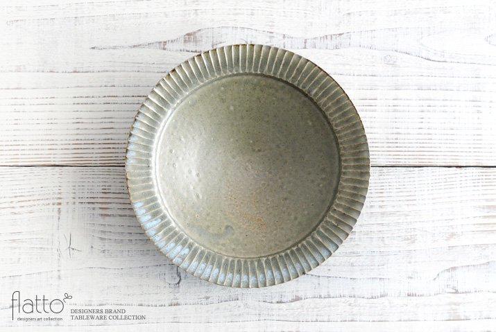 灰釉 7寸リム鎬鉢|市野耕|中鉢