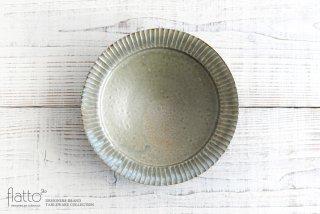 市野耕|灰釉 7寸リム鎬鉢