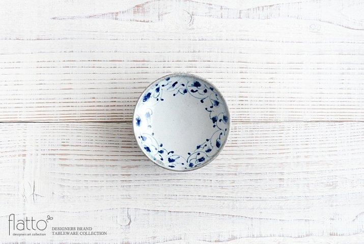 石井桃子|花唐草 3寸小皿