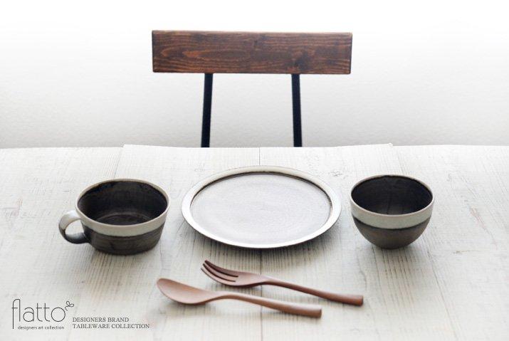 shiro-kuro 7寸皿(縁白) 作家「トキノハ」-03