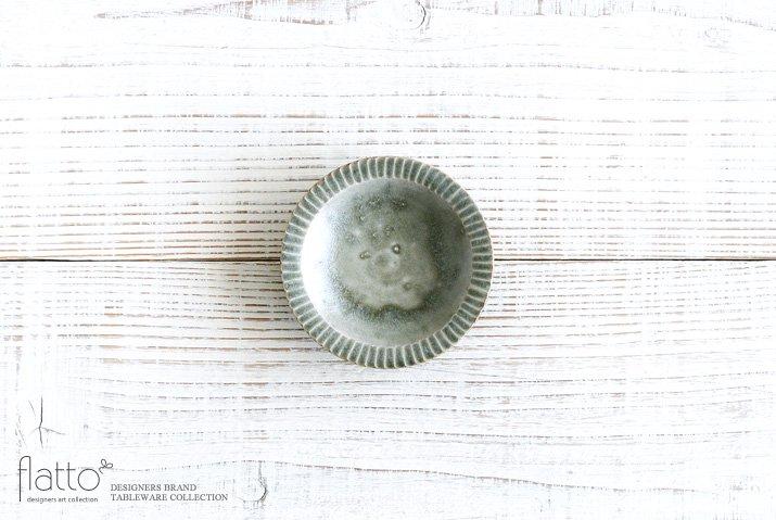 灰釉 3寸鎬皿|市野耕|豆皿・小皿