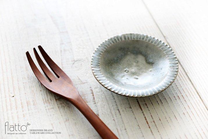 灰釉 3寸鎬皿|市野耕|豆皿・小皿-02
