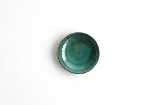 市野耕|アトランティコブルー 3寸皿|豆皿・小皿
