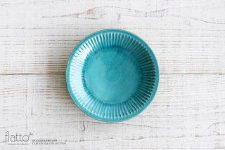 市野耕|アトランティコブルー 6寸鎬皿