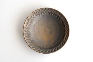 市野耕|マンガン釉 7寸葉紋皿|中皿