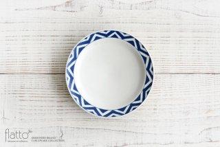 石井桃子|幾何学紋 5寸リム皿(マット)|和食器