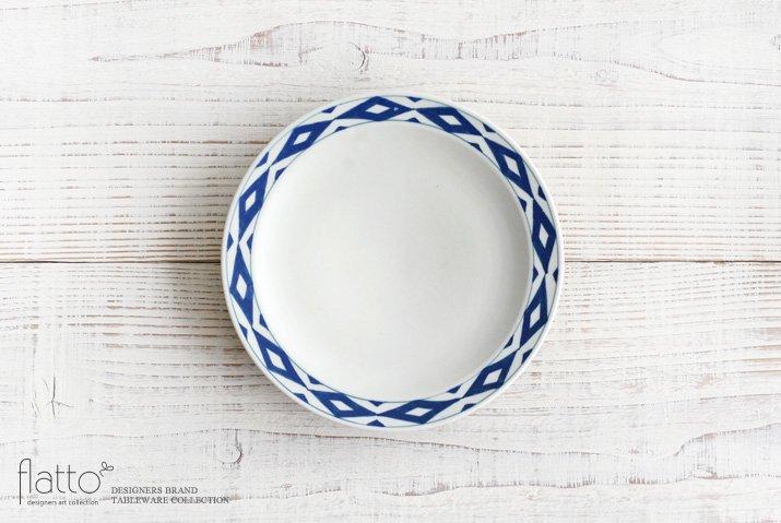 石井桃子|幾何学紋 6寸リム皿(マット)