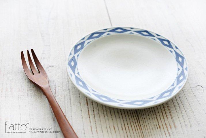 石井桃子|幾何学紋 6寸リム皿(マット)-02