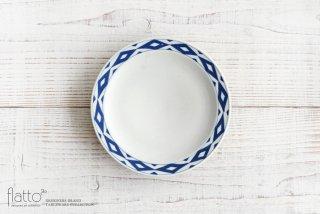 石井桃子|幾何学紋 6寸リム皿(マット)|和食器