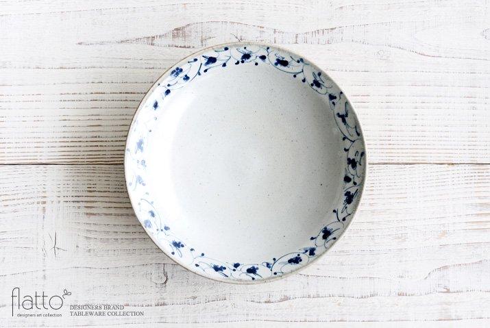 花唐草 7寸リム皿 作家「石井桃子」