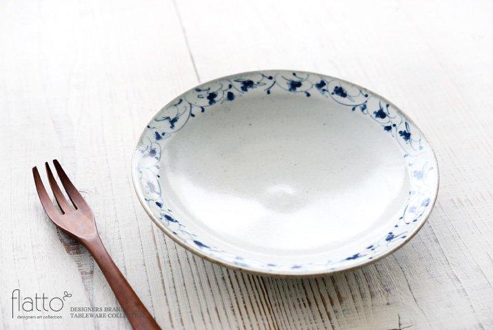 石井桃子|花唐草 7寸リム皿-02