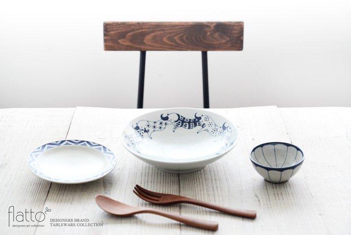 動物紋 7寸鉢(ツノ柄) 作家「石井桃子」-03