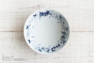動物紋 7寸鉢(ツノ柄) 作家「石井桃子」