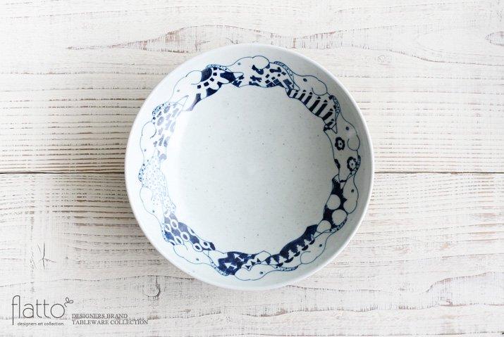 石井桃子|動物紋 7寸鉢(ゾウ柄)