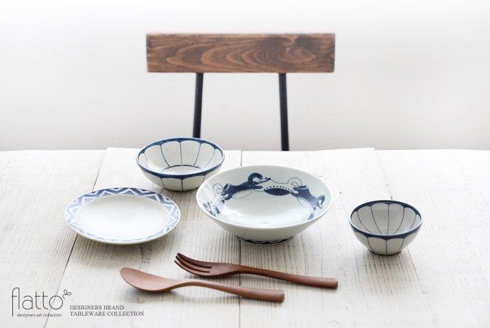 動物紋 6寸鉢(小動物)|石井桃子|中鉢-03