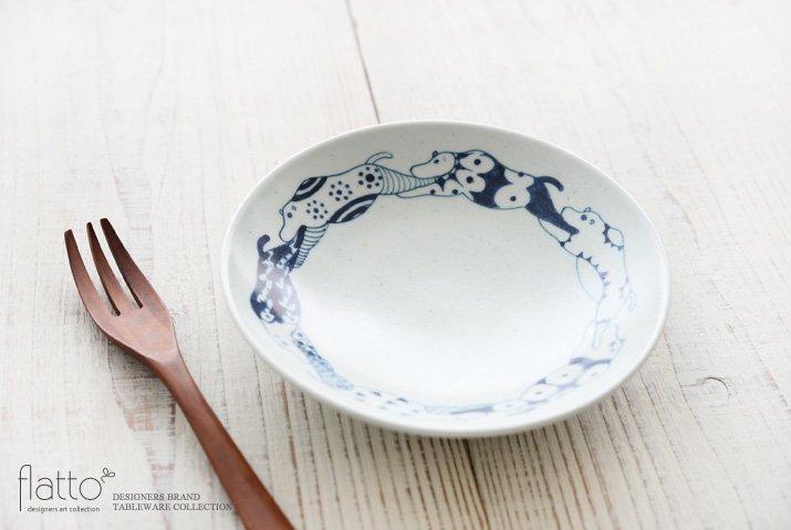 動物紋 6寸皿(草食動物) 作家「石井桃子」-02