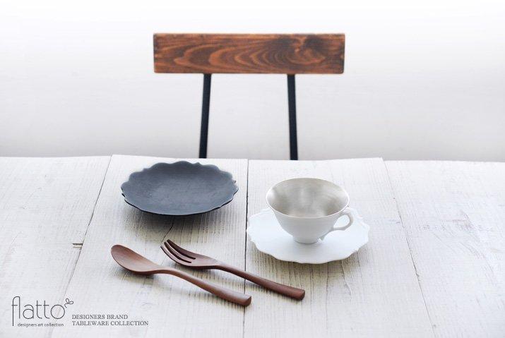 木下和美|白磁銀彩 ティーカップ&ソーサー(L)-03