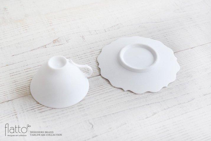 木下和美|白磁銀彩 ティーカップ&ソーサー(L)-04