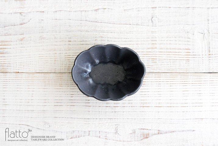 鉄釉 4.5寸楕円輪花深鉢 作家「加藤祥孝」