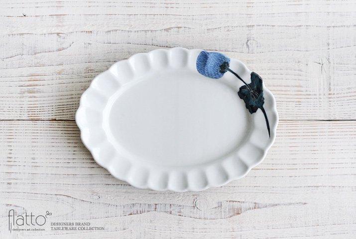 7寸オーバルプレート(あざみ)|松本郁美|中皿